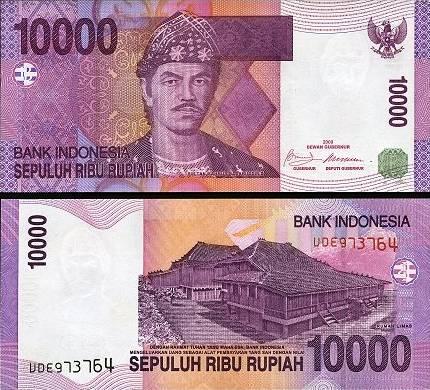 10 000 Rupiah Indonézia 2005/2009, P143e