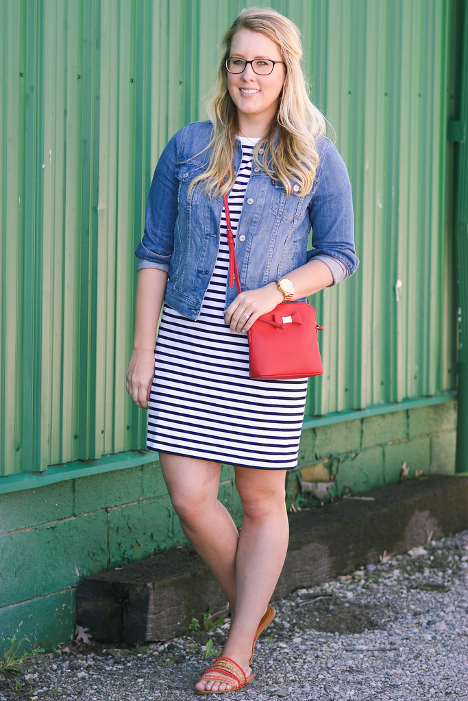 St. John's Bay Short Sleeve Shift Dress
