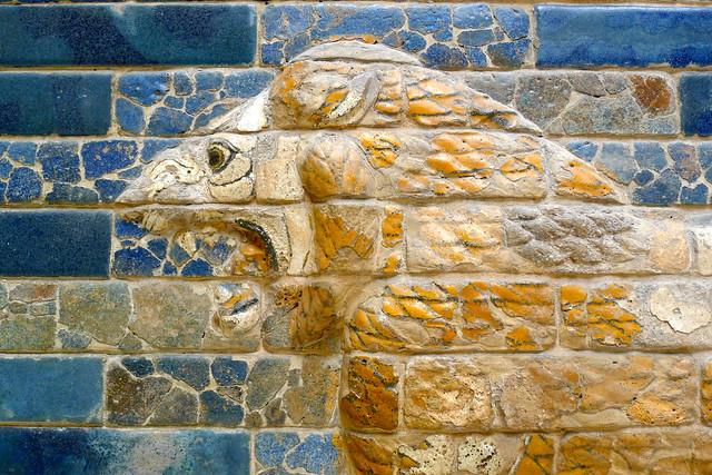 Lion from Babylon city wallsBabylon City Walls