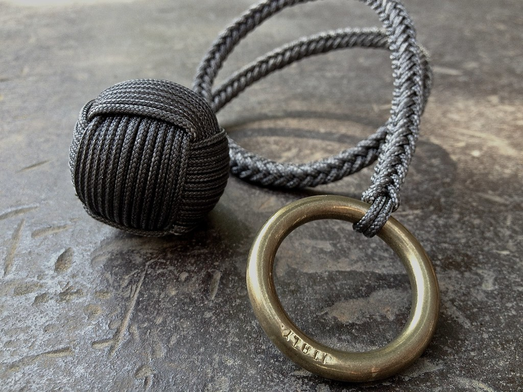 Micro Paracord Monkey S Fist 1 3 16 Inch Skf 174 Steel Ball