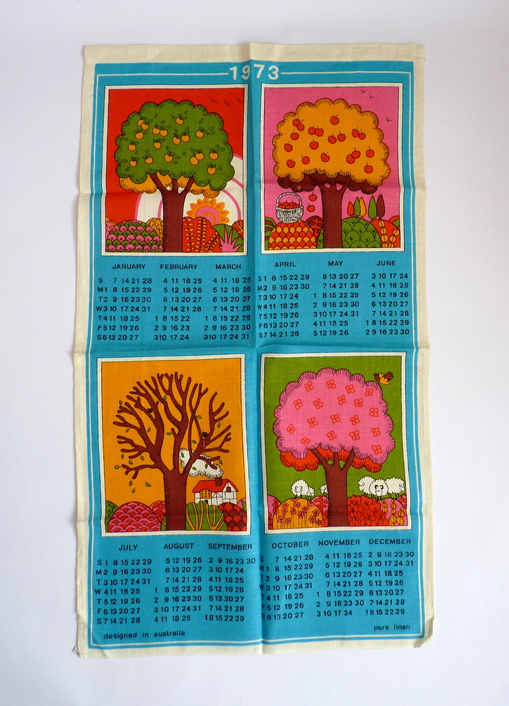 1973 Four Seasons Calendar Tea Towel Southern Hemisphere S Flickr