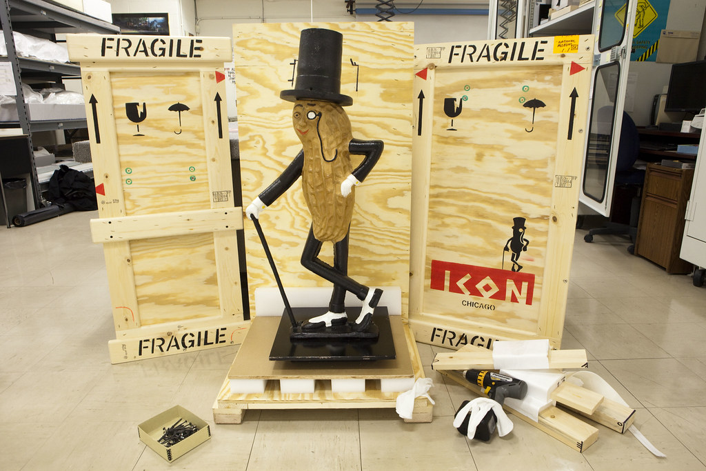 mr peanut arrives at the museum this early 20th century