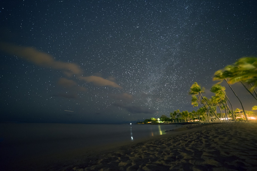 Starry Night at the Waikoloa Beach, Hawaii Island, Hawaii ...