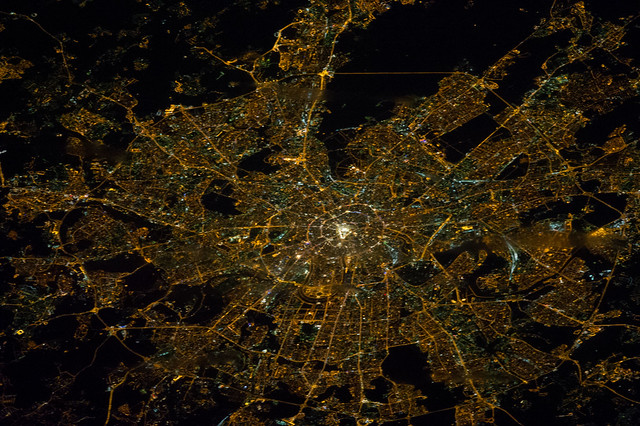 Moscow, Russia at Night (NASA, International Space Station ...
