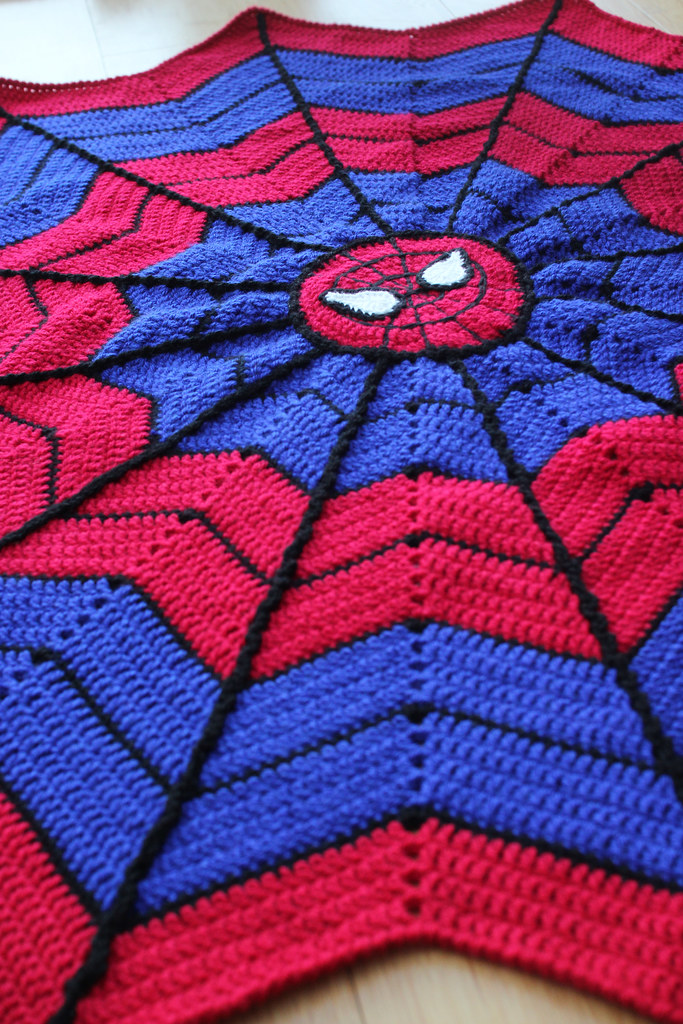 13th February - spidey blanket | I\'ve been working on this f… | Flickr