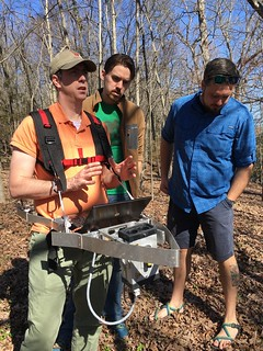 Fahey and colleagues from Purdue and Virginia Commonwealth Universities collecting lidar data
