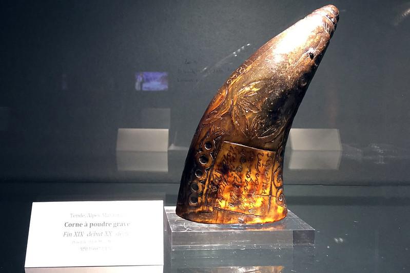 Carved horn