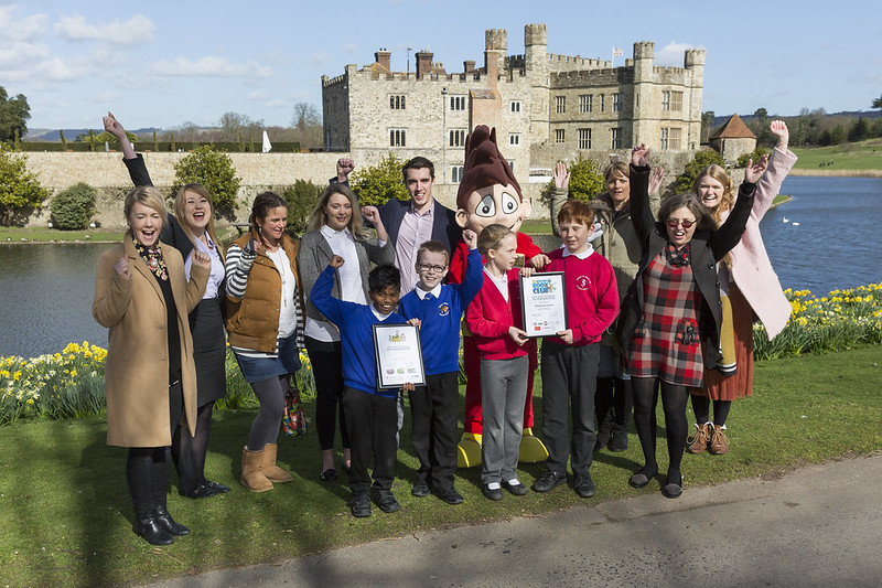 Leeds Castle Super WOW and Buster's Book Club challenge winners Spring 2017
