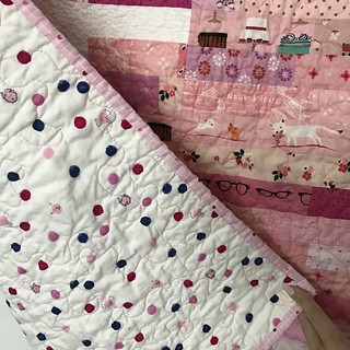 Front and back Pink Sunshine quilt | by Don't Call Me Betsy