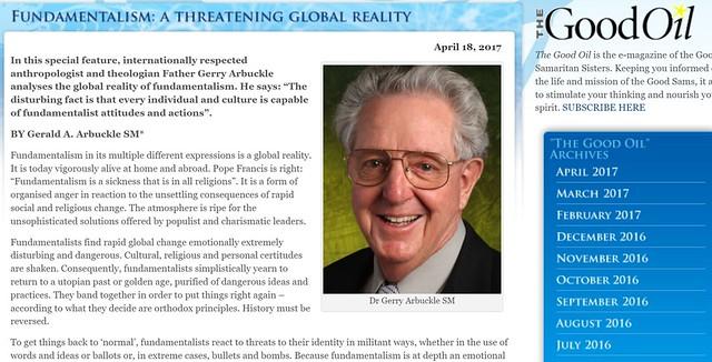 Gerald Arbuckle - Fundamentalism A Threatening Global Reality