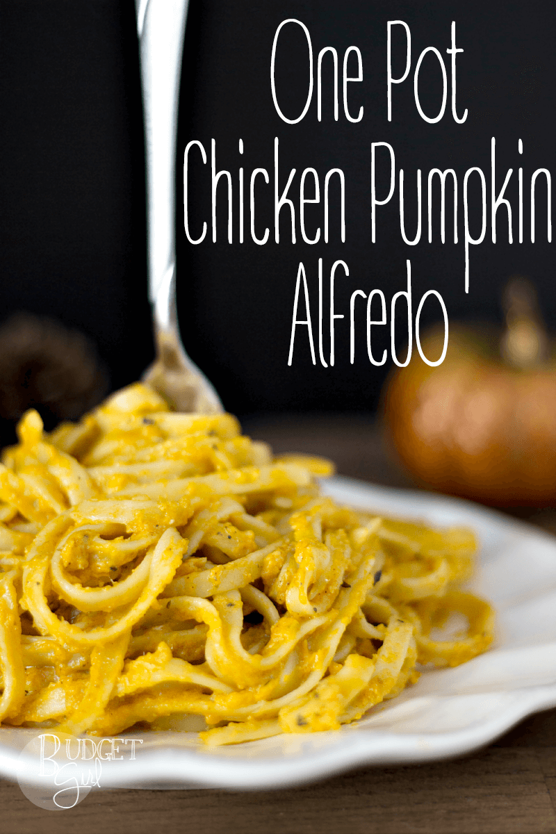 One Pot Chicken Pumpkin Alfredo