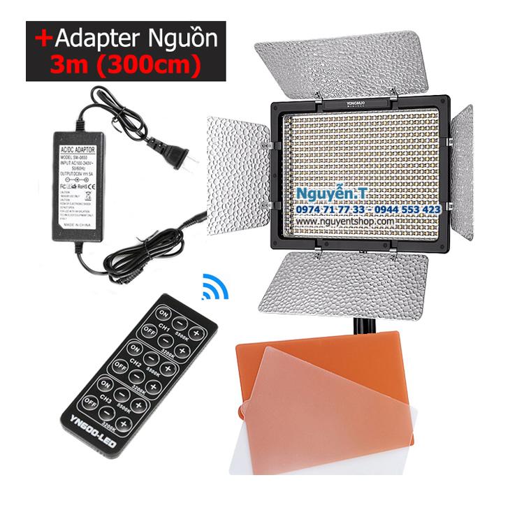 Bộ đèn led quay phim Yongnuo YN600L full 5500K có Adapter nguồn 3m