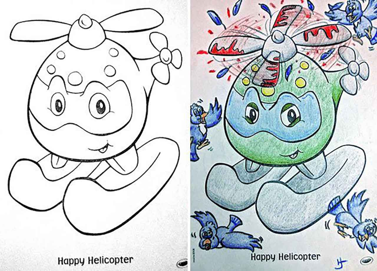 24 Pictures That Explain How Creative A Dad Can Get While Coloring Pages