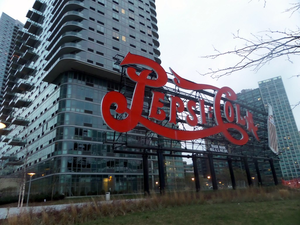 Pepsi Cola sign in Gantry Plaza State Park, Queens