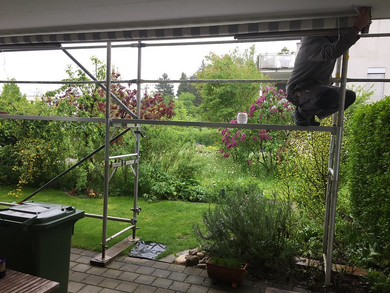 Removal of sun blind