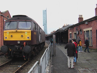 Class 47 locomotive in Manchester Liverpool Road station (museum of science and industry)