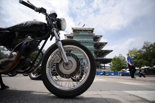 A motorcycle in the plaza more photos at www for Indianapolis motor speedway com