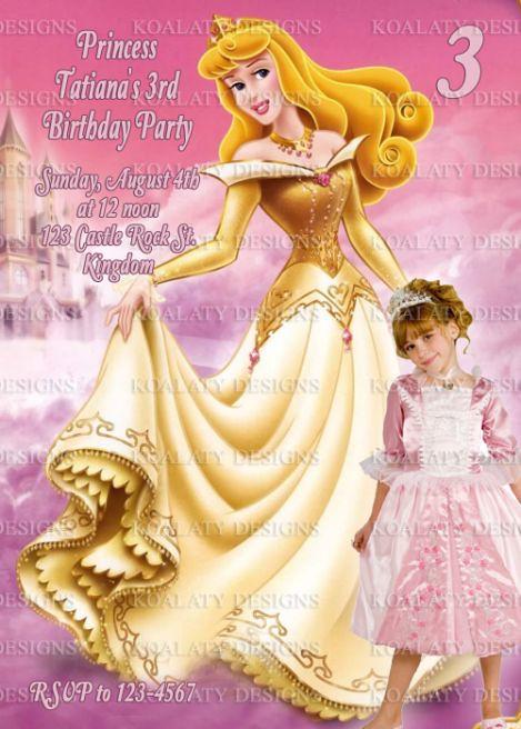 Disney Princess Aurora Birthday Invitations Sleeping Beauty