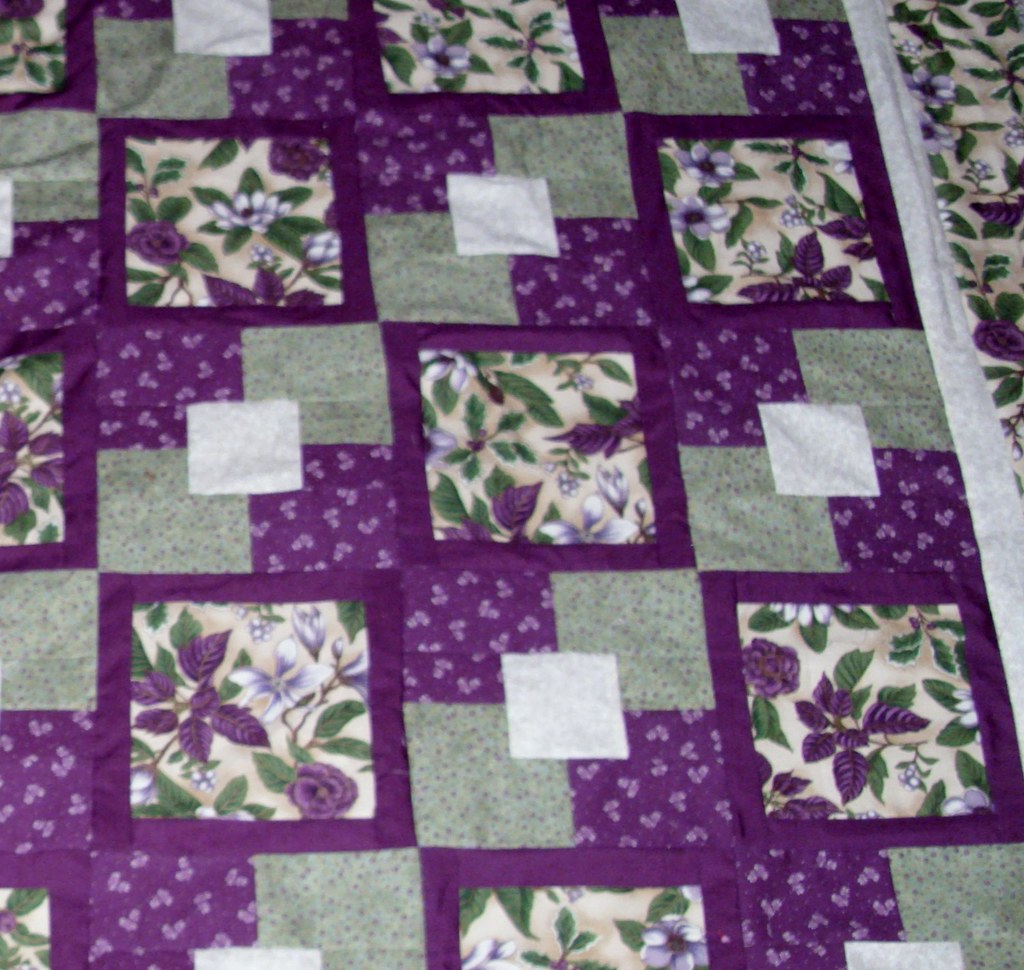 Close-up of Five yard quilt   Dee Wall   Flickr