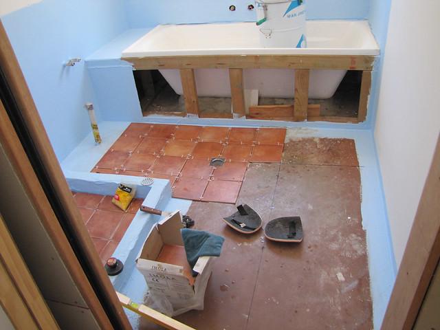 Guest Bathroom Tiling - Strawbale House Build in Redmond W ...