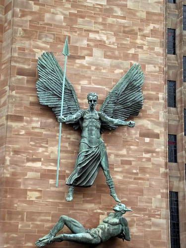 Coventry Cathedral Epstein S Sculpture Of St Michael And
