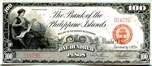 1928 series Bank of Philippines 100 Pesos banknote1