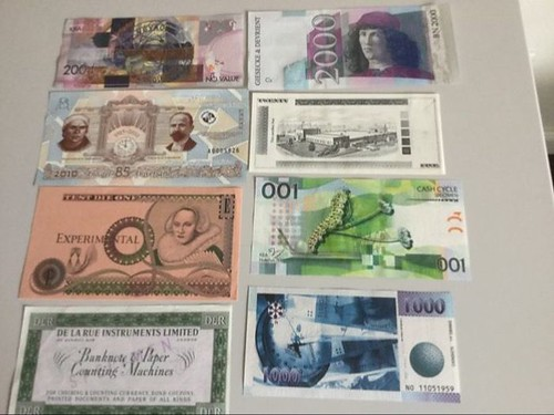 Eight Test Bank Notes