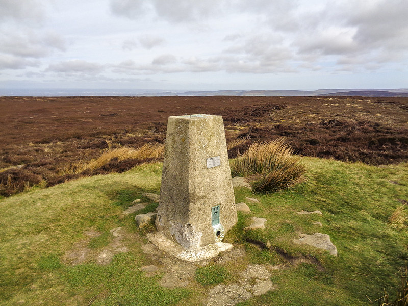 The trig point on Round Hill (Urra Moor)