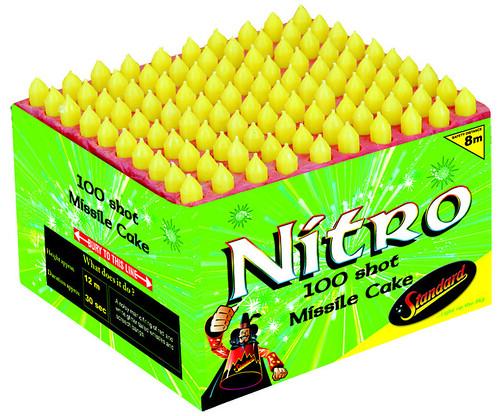 Nitro 100 Shot F2 Missile Cake by Standard Fireworks