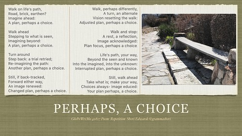 Perhaps A Choice 40817 GloPoWriMo | by teach.eagle