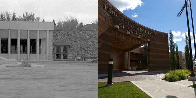 Provincial Archives of Alberta - Then and Now (1967-2017)