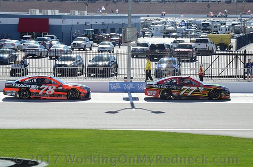 Martin Truex, Jr and Erik Jones
