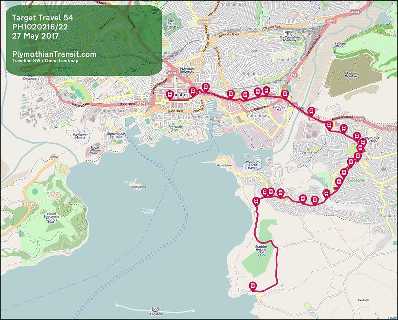 2017 05 27 DEALTOP (PLYMOUTH) LTD ROUTE 54 map
