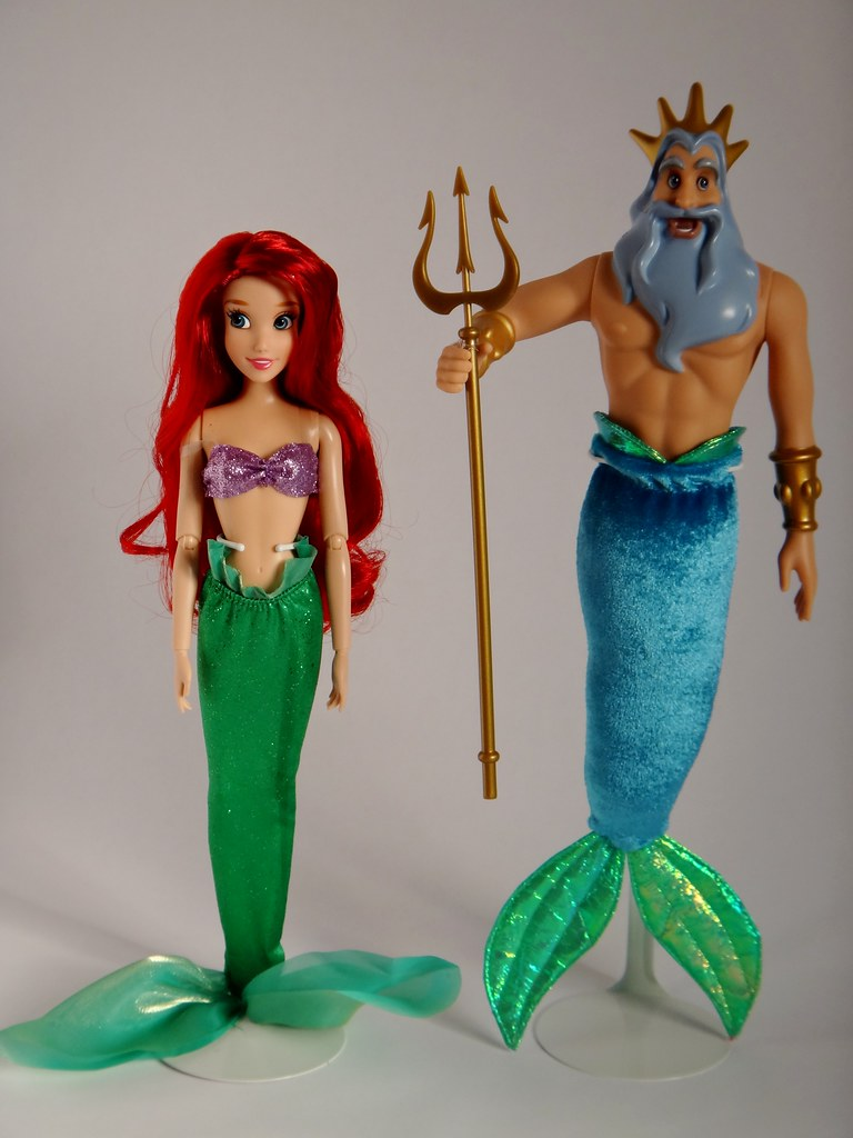 Uncategorized Ariel And King Triton ariel standing up to king triton the little mermaid flickr deluxe doll gift set the
