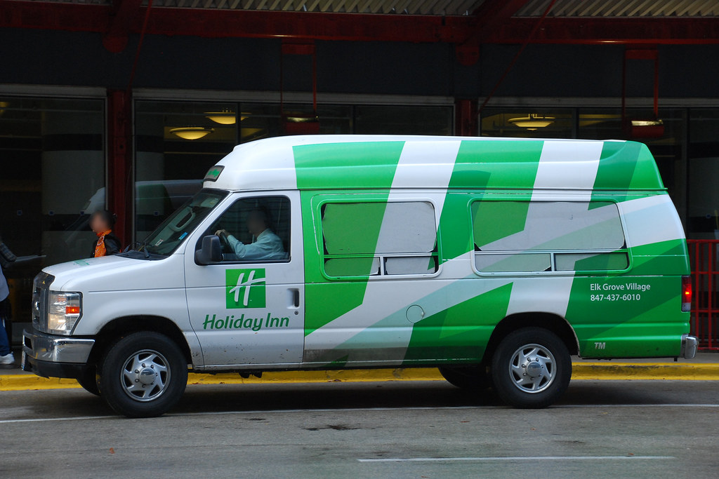 Holiday Inn Ford E Series Courtesy Shuttle Van At