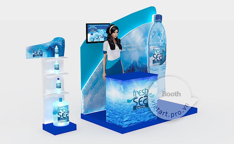 Thiết kế thi công booth giới thiệu sản phẩm, kích hoạt thương hiệu