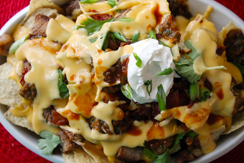 Macho Nachos, River of cheese! | by femmefraiche