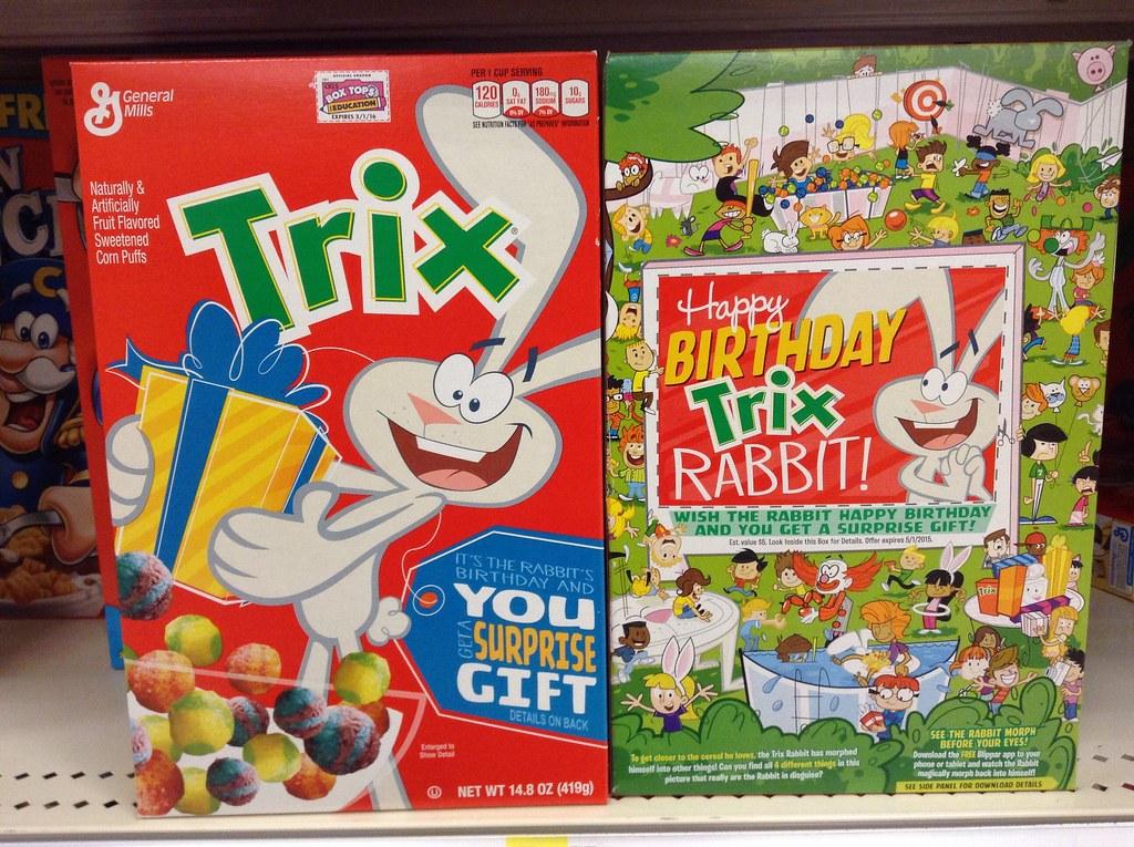 Trix Cereal Trix Breakfast Cereal Happy Birthday Trix