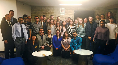 Zarb House Students Network with Management and Entrepreneurship Advisory Board