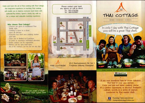Brochure Thai Cottage Home Cookery School Chiang Mai Thailand 1