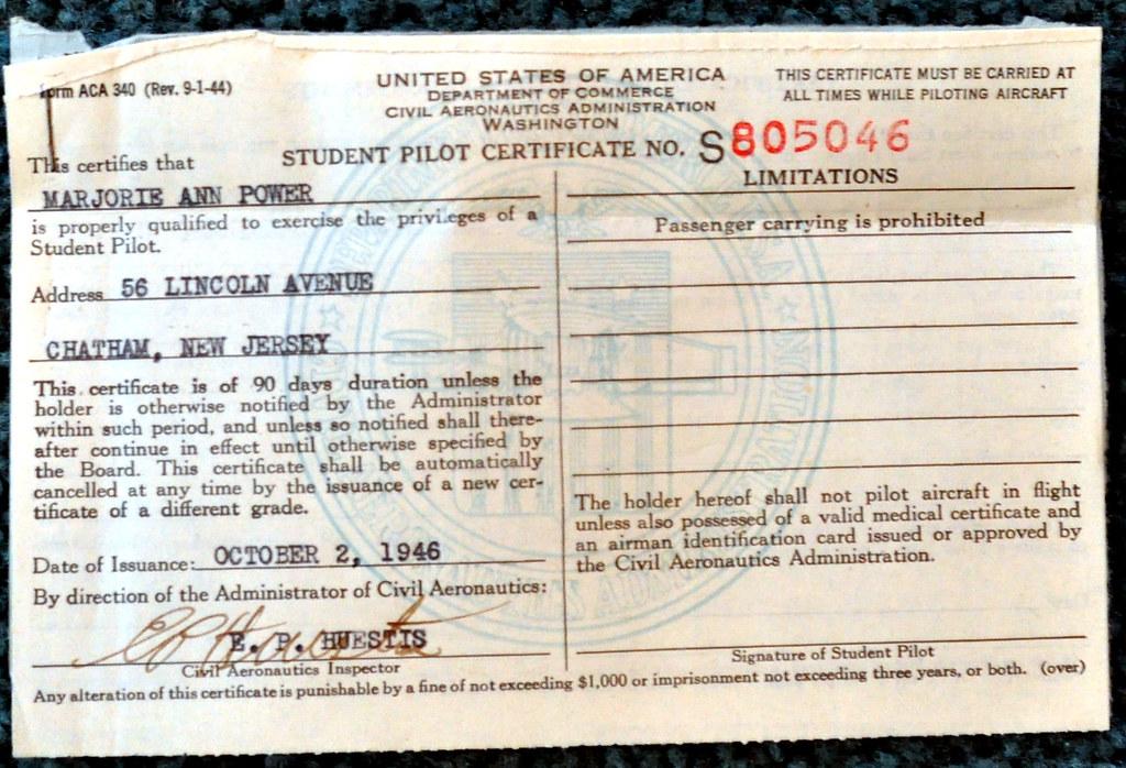 Student Pilot Certificate   Edward Kimmel   Flickr