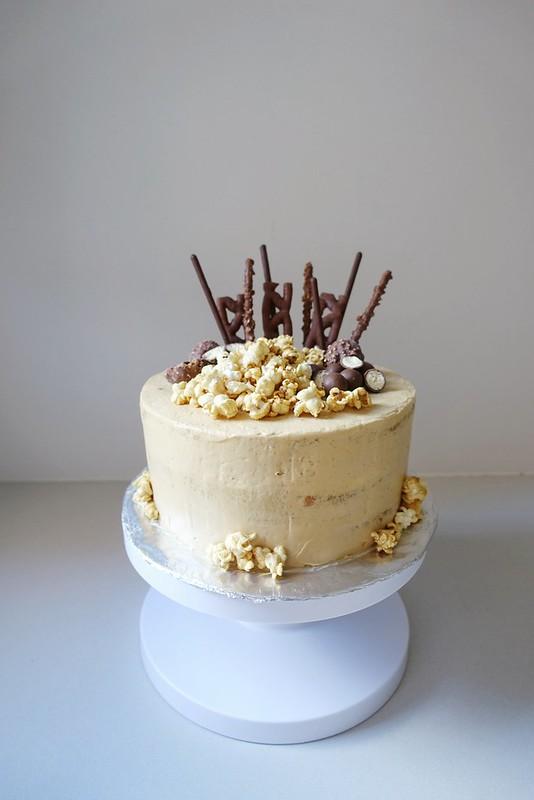 Cinnamon Sponge Cake with Caramel Swiss Buttercream