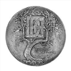 1899 German Deutcher Automobil Club Medal obverse