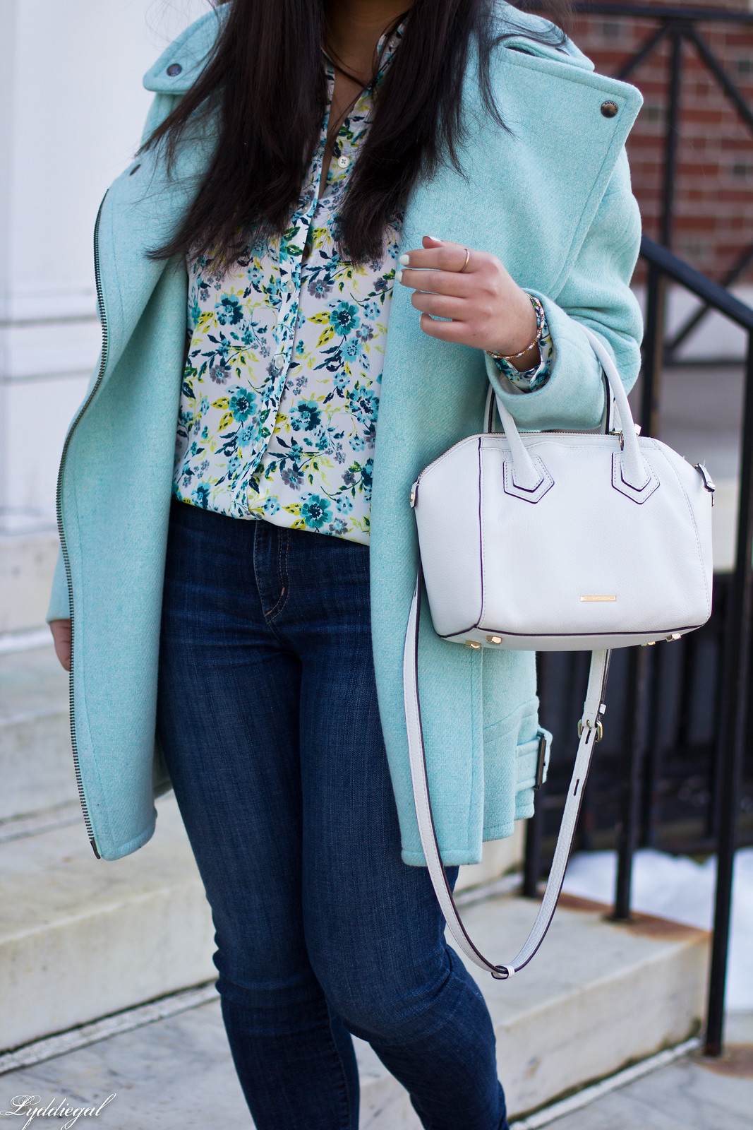 mint green cocoon coat, floral blouse, lace up flats, spring outfit-3.jpg