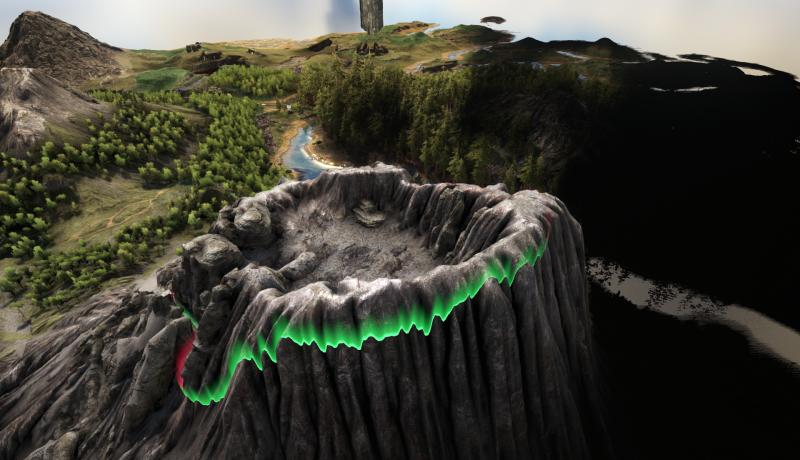 /></a></p><p>Nach diesem explosiven Ereignis wird sich der Krater des Vulkans in einen neuen Cave zum Erkunden verwandeln, der <a href=