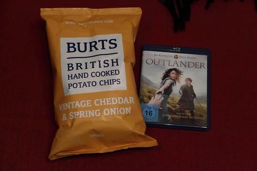 """Britische Chips zur sechsten Folge der Serie """"Outlander"""""""