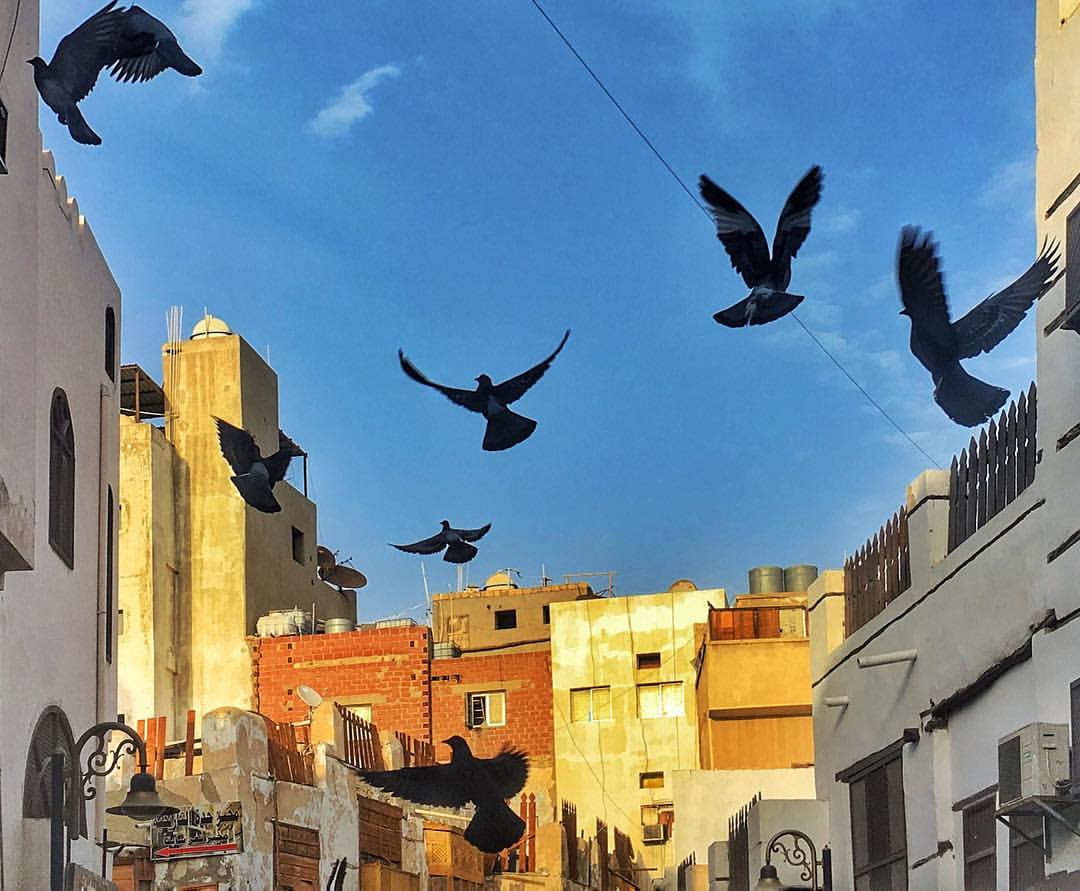 The peaceful, almost sleepy streets of the World Heritage area of old Jeddah.