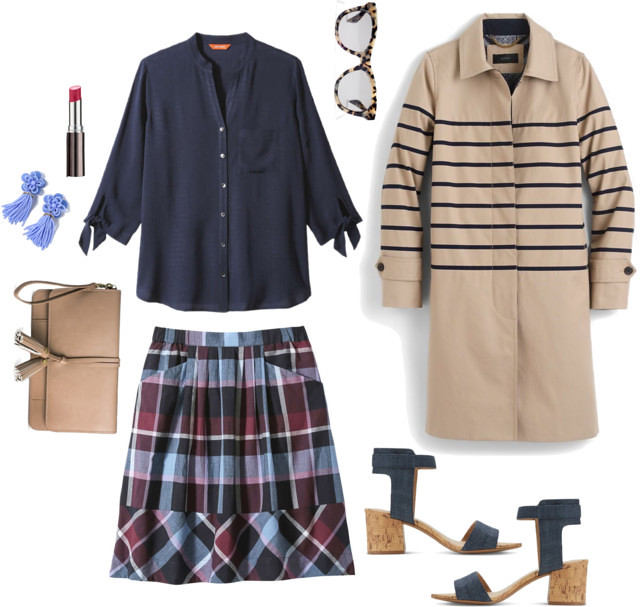 What I Wish I Wore, Vol. 181 - Ode to The J.Crew Striped Trench | Style On Target blog