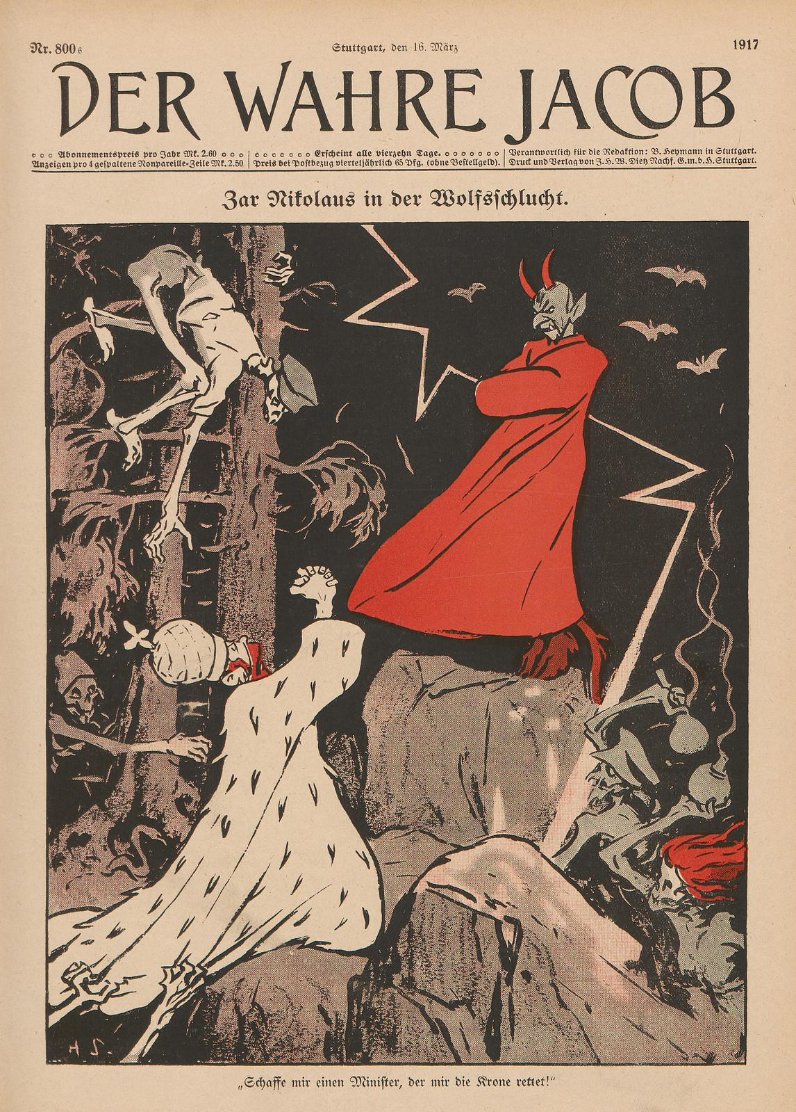 Hans Gabriel Jentzsch - Tsar Nicholas in the Wolf Gorge, 1917