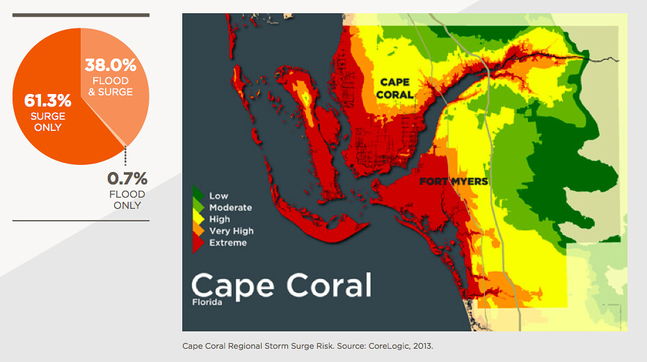 Cape Coral Storm Surge Map These Maps Represent The Storm Flickr - Cape coral map
